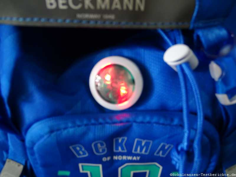 Beckmann of Norway Schulranzen LED Licht angeschaltet